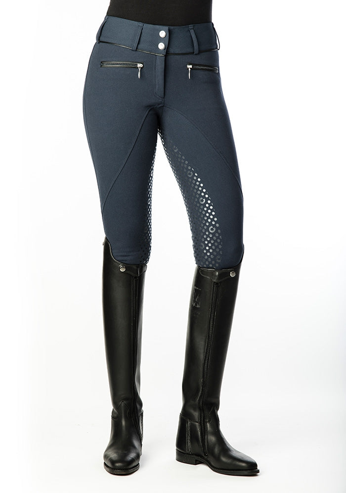 Equestrian Stockholm Ultimate Full Seat Dressage Breeches - Navy