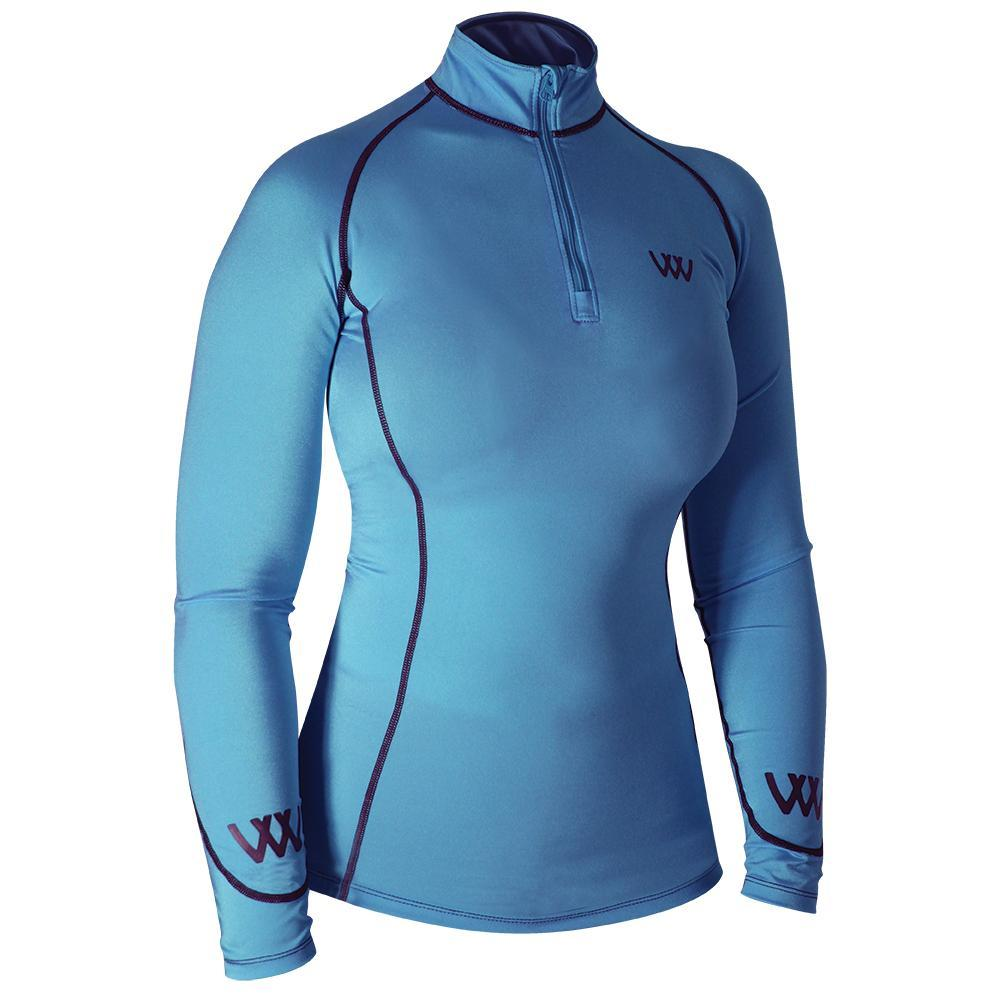 Woof Wear Performance Riding Shirt Powder Blue