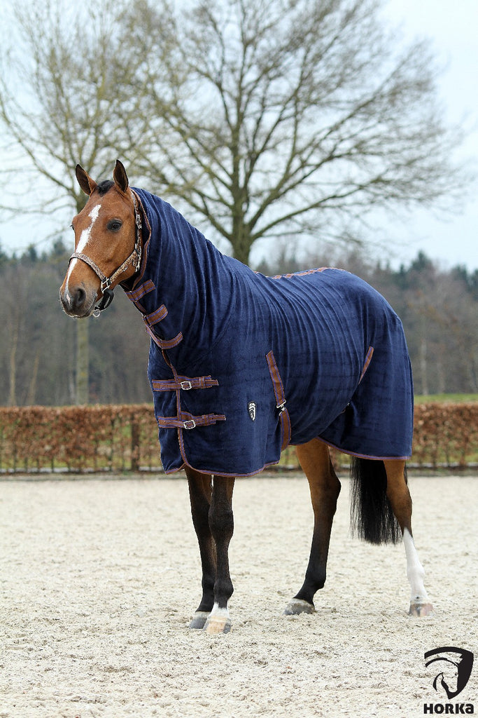 HORKA Teddy Fleece Rug - Navy Blue