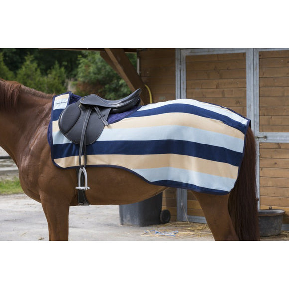 Equi-Theme Stripe Navy/Light Blue/Beige Quarter Sheet