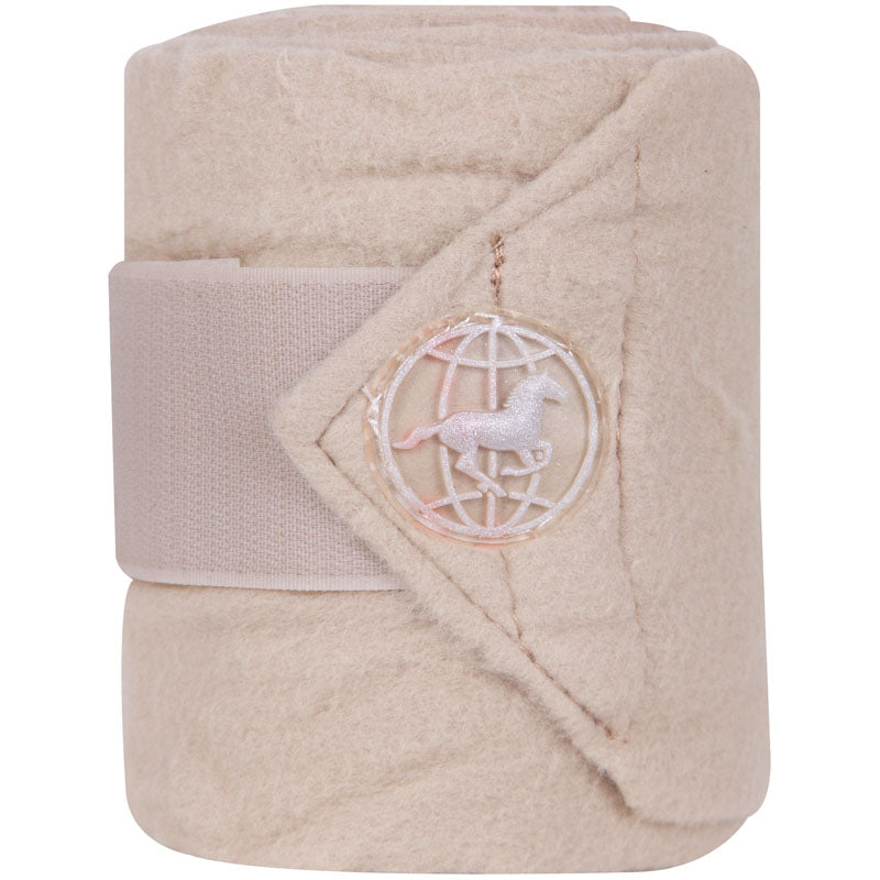 Imperial Riding Bandages Fleece With Velcro Beige