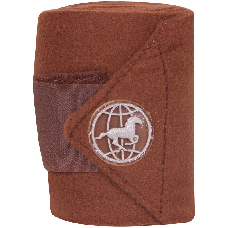 Imperial Riding Bandages Fleece With Velcro Bronze