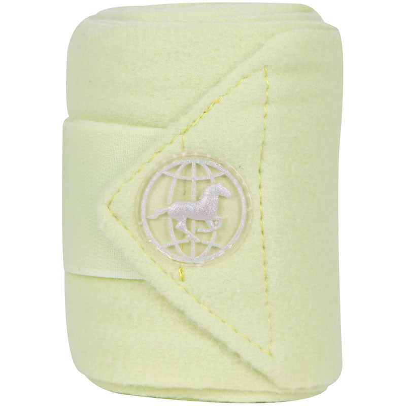 Imperial Riding Bandages Fleece With Velcro Light Green