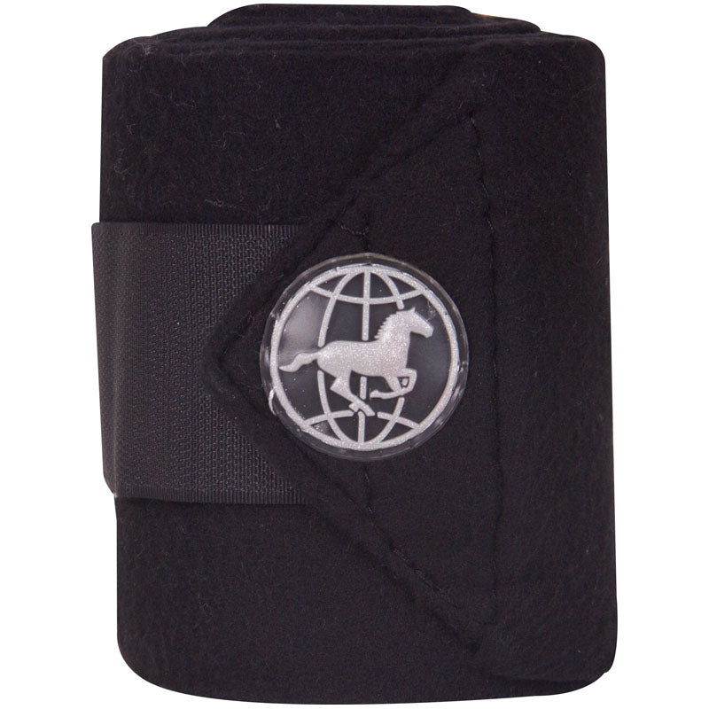 Imperial Riding Bandages Fleece With Velcro Black