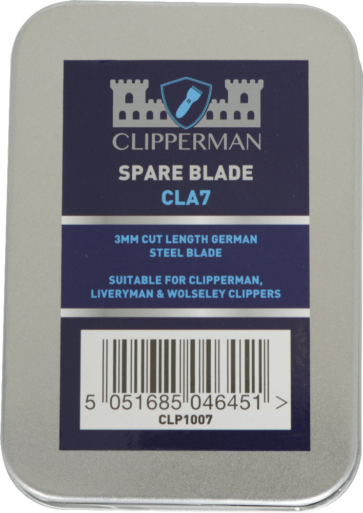 Clipperman Cla7 German Steel Blade Set - 3mm