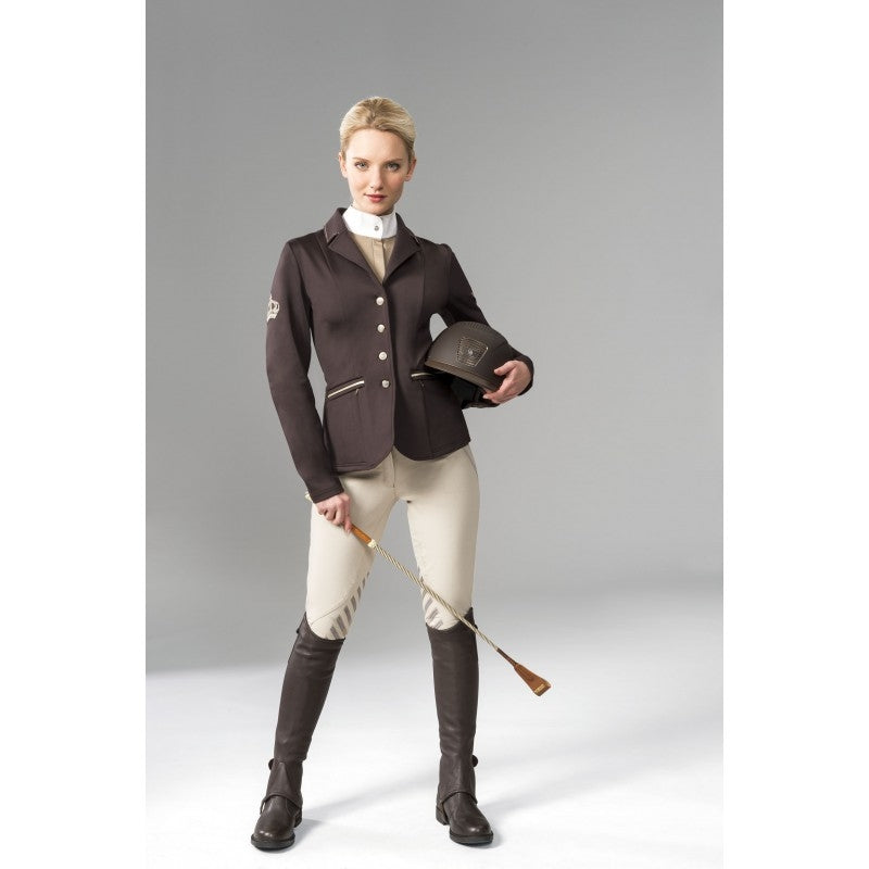 "Equi-Theme ""Soft Crystal"" Softshell Competition Jacket - Chocolate"
