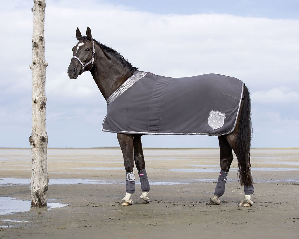 Cavallino Marino Rimini Fleece Cooler Rug - Deep Grey
