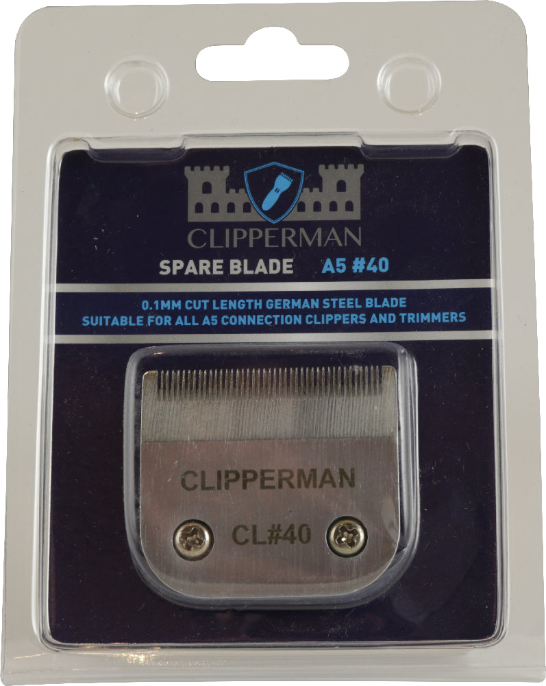 Clipperman A5 #40 German Steel Blade Set - Surgical