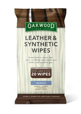 Oakwood Leather & Synthetic Wipes - 7 x 20 Pack