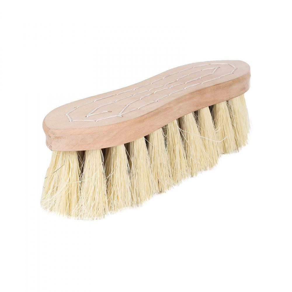 Horze Wood Back Firm Brush Withnatural Mix Bristles - 5.5Cm