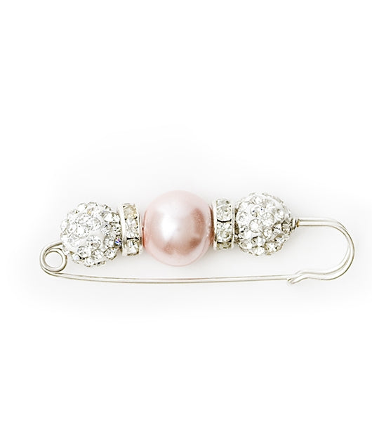 Equestrian Stockholm Pearl Stock Pin - Shiny Pink