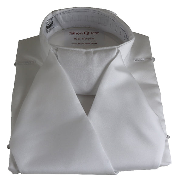 Show Quest Bib Stock Satin - White