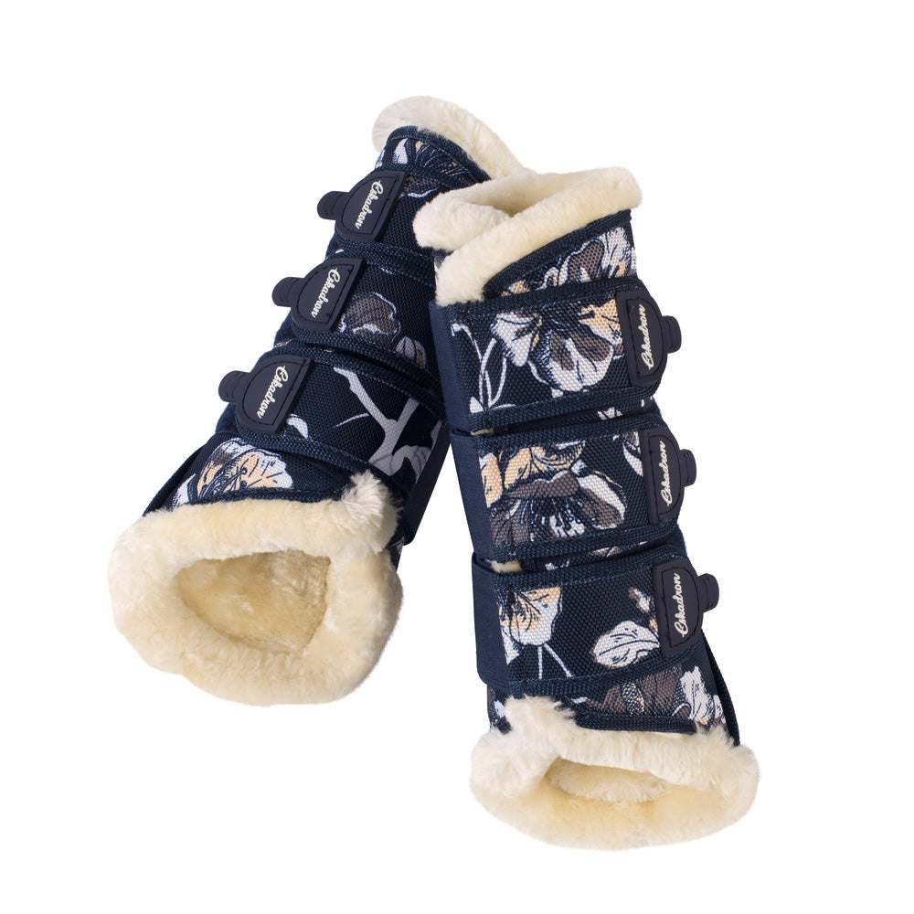 Eskadron SS18 Classic Sports Fur Brushing Boots - Floral