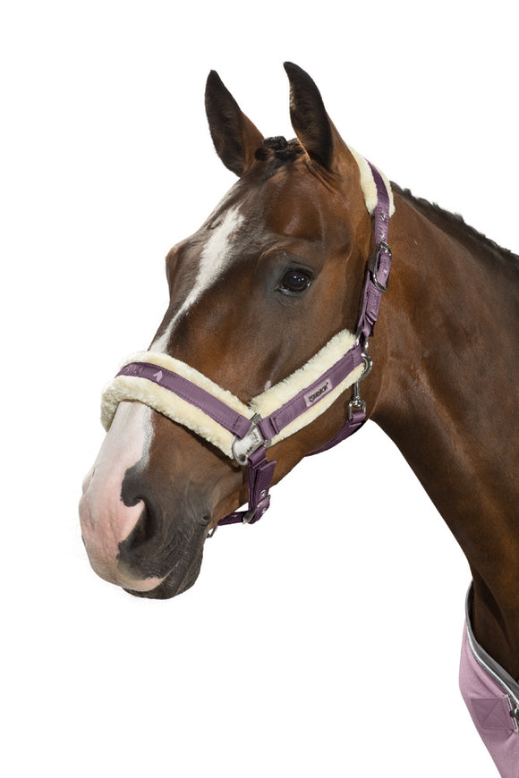 Eskadron SS18 NG Fur Padded Headcollar & Leadrope - Smoking Purple