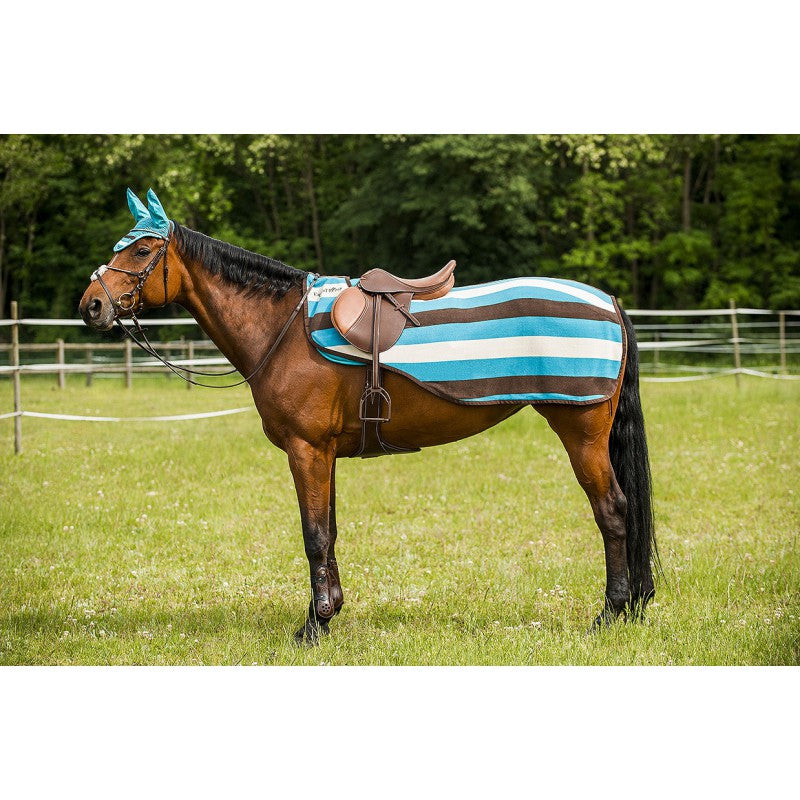 Equi-Theme Stripe Turquoise/Choco/Sand Quarter Sheet