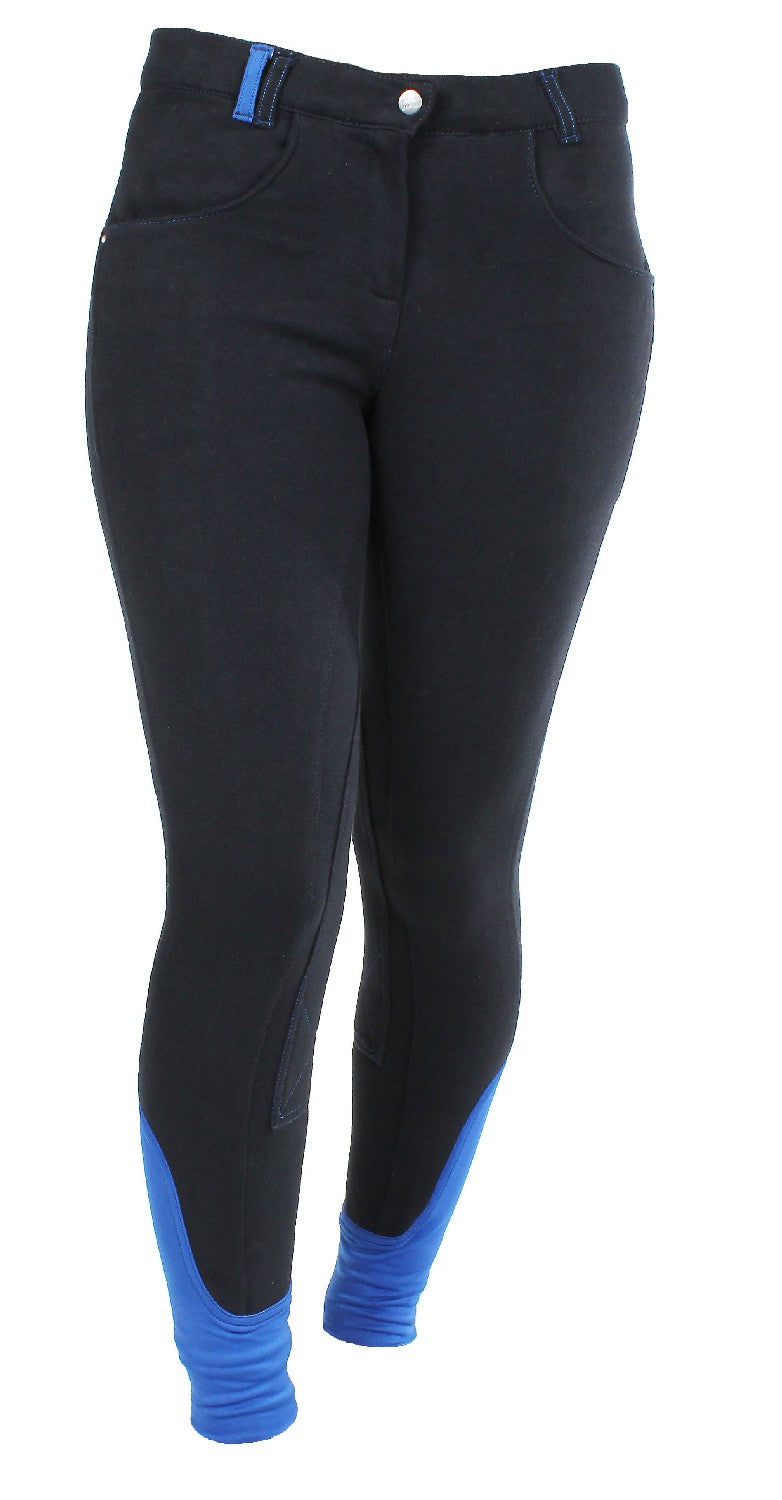 Red Horse Julia Elastico Ladies Breeches - Navy Blue/Royal Blue