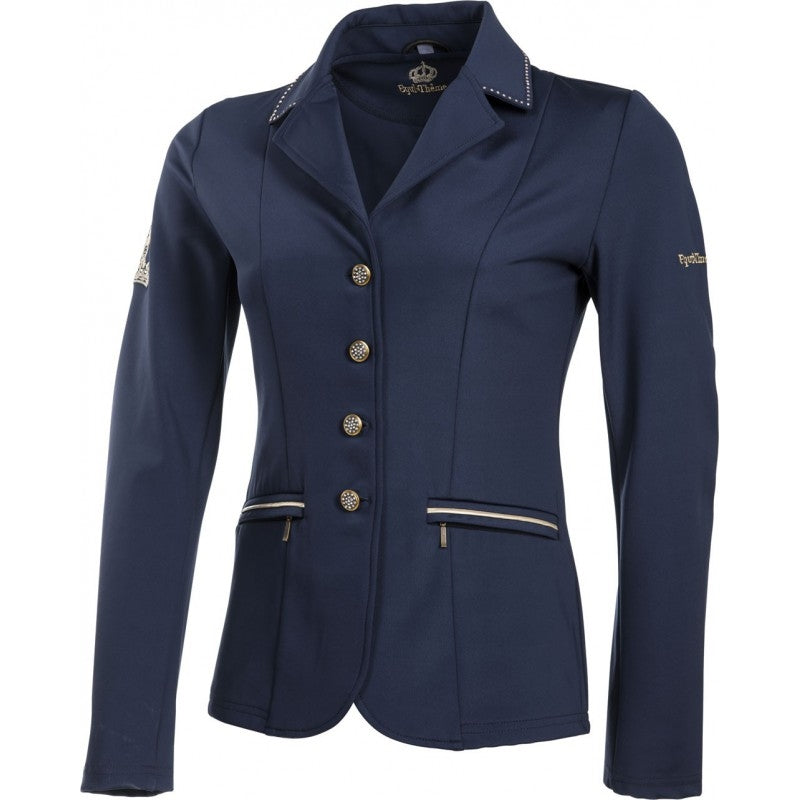 "Equi-Theme ""Soft Crystal"" Softshell Competition Jacket - Navy Blue"