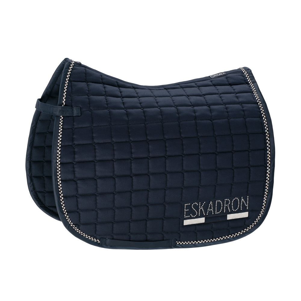 Eskadron Classic Sports Cotton Crystal Saddlepad - Navy Blue