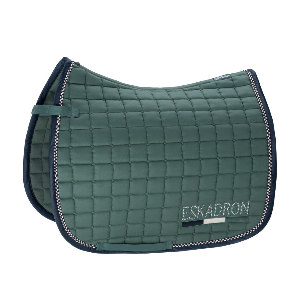 Eskadron Classic Sports Cotton Crystal Saddlepad - Seapine Green