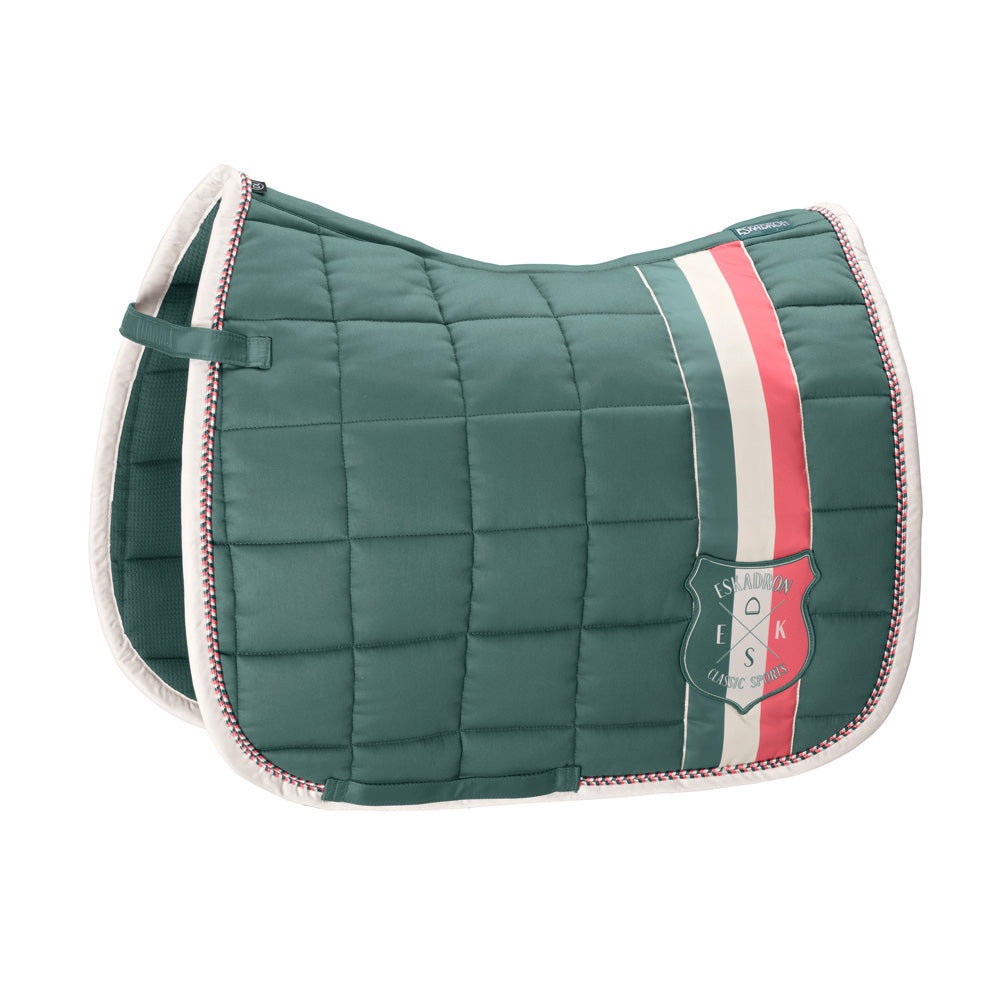 Eskadron Classic Sports Big Square Cotton Saddlepad - Seapine Green