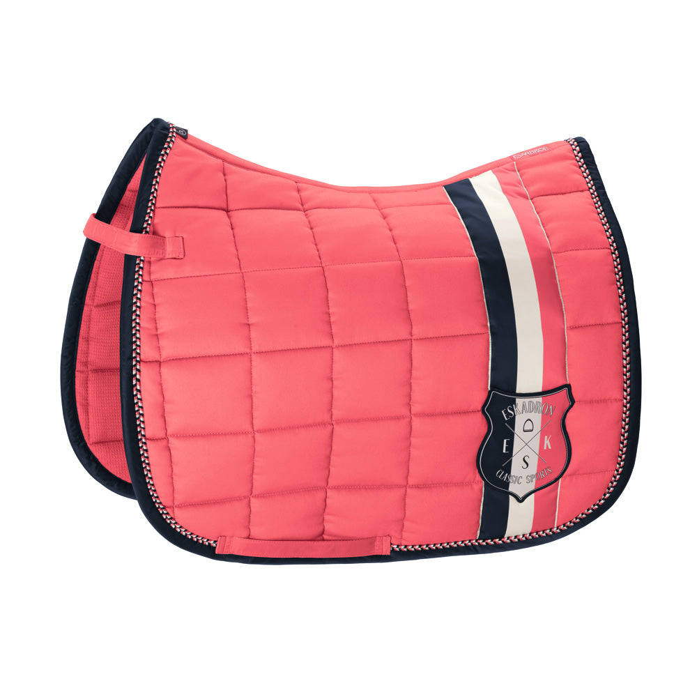 Eskadron Classic Sports Big Square Cotton Saddlepad - Fusion Coral
