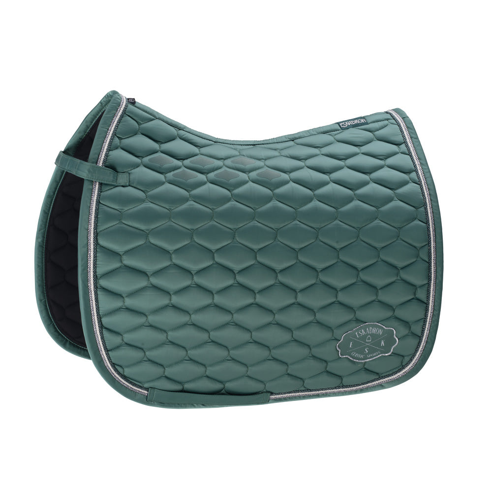 Eskadron Classic Sports Glossy Emblem Saddlepad - Seapine Green