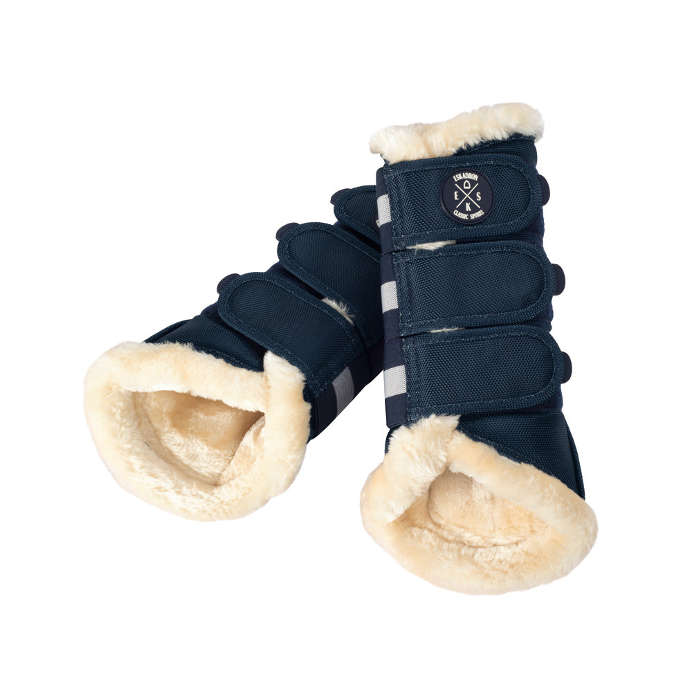 Eskadron Classic Sports Faux Fur Brushing Boots - Navy