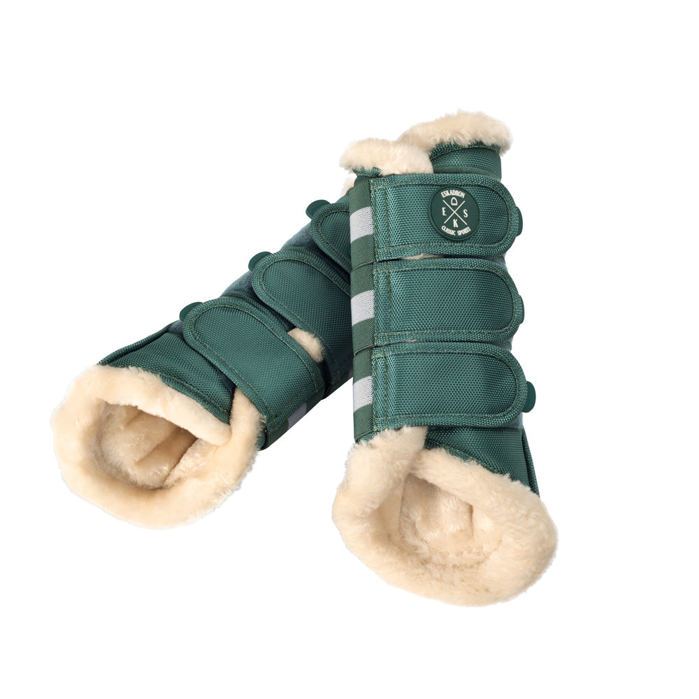 Eskadron Classic Sports Faux Fur Brushing Boots - Seapine Green