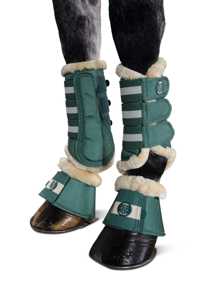 Eskadron Classic Sports Fur Over Reach Boots - Seapine Green
