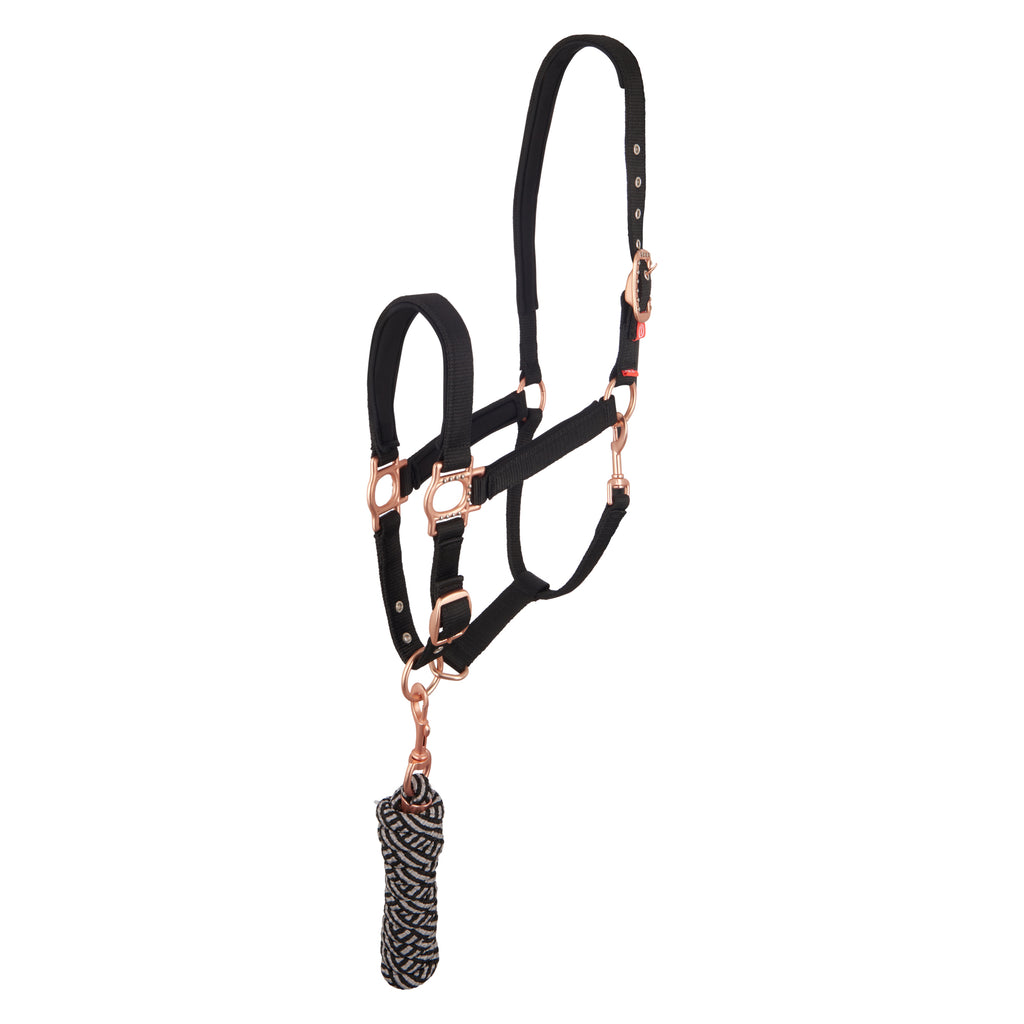 Imperial Riding SH Headcollar And Rope Sunday Funday Black