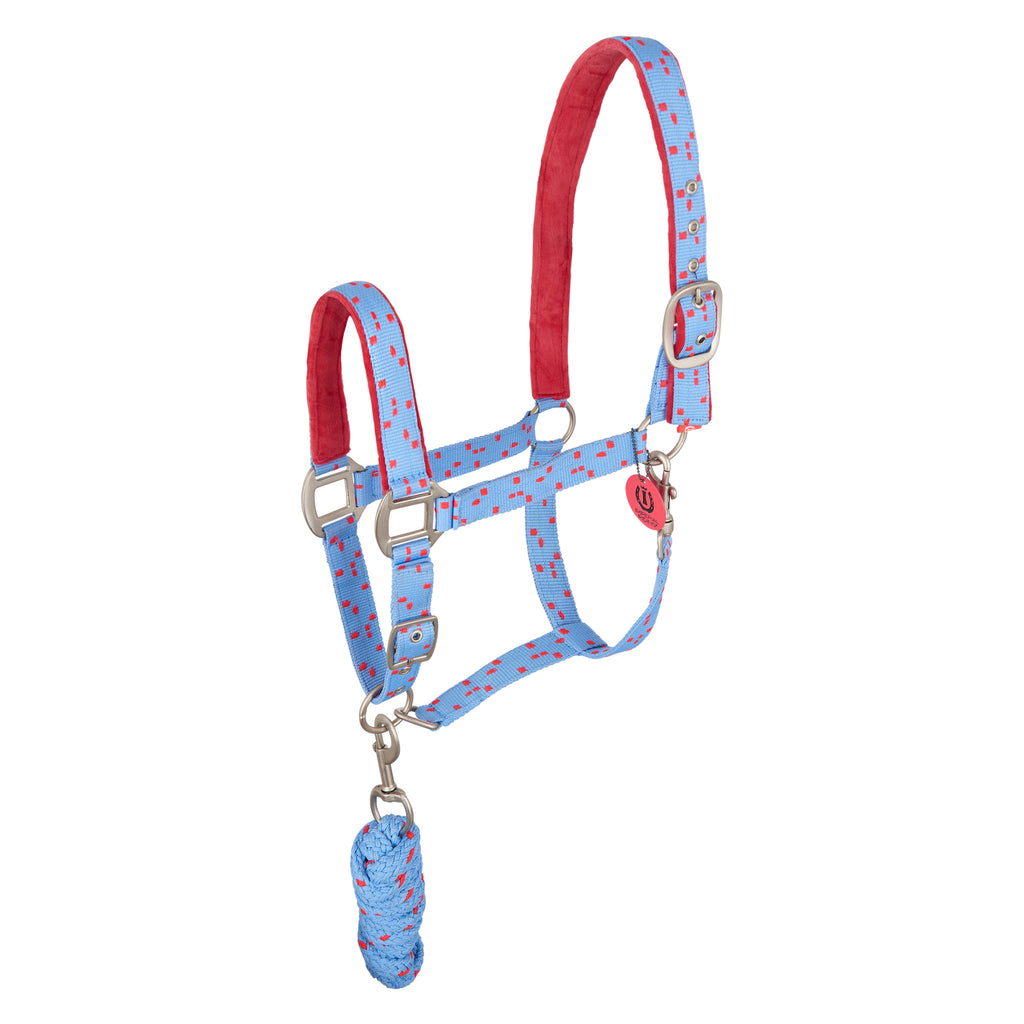 Imperial Riding Headcollar And Rope Snap Party Blue