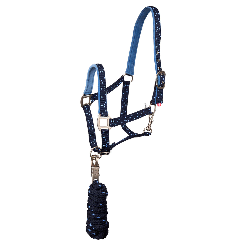 Imperial Riding Headcollar And Rope Snap Party Navy