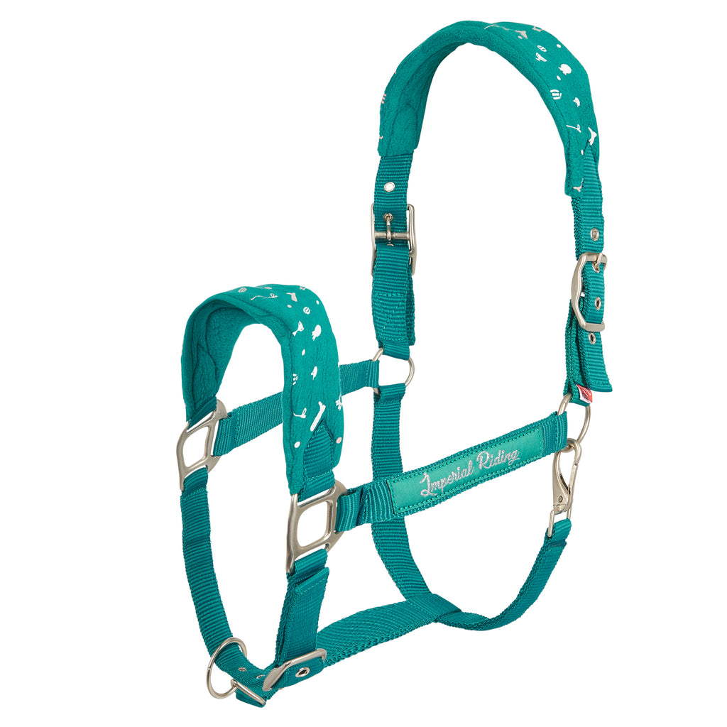 Imperial Riding Headcollar Not Today Jade green
