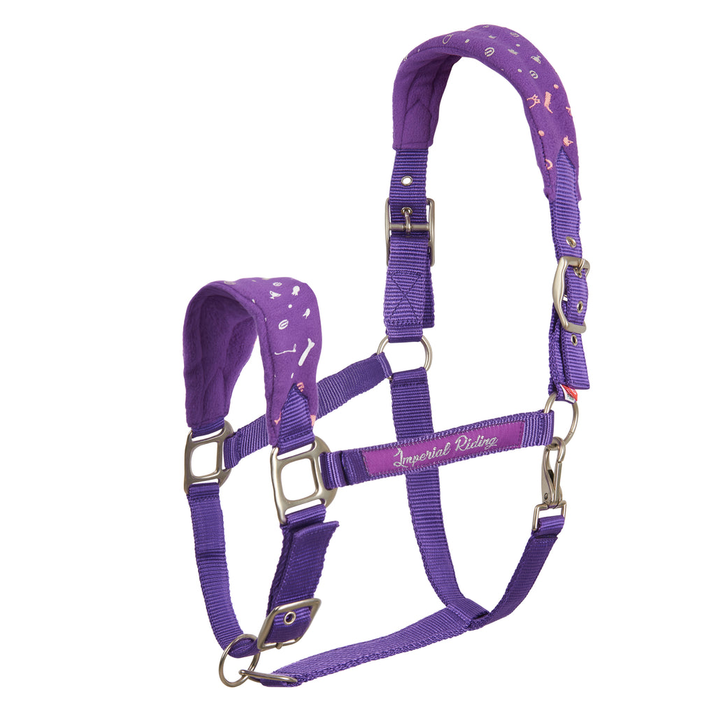 Imperial Riding Headcollar Not Today Royal purple