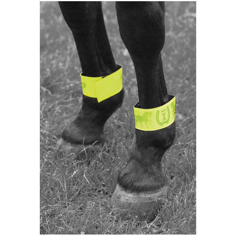 Imperial Riding Reflective Bandages with Velcro Green