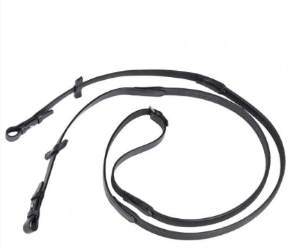 Stubben Premium Grip Rubber Reins with Hooks