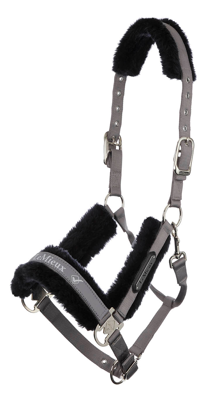LeMieux Loire Luxury Padded Headcollar & Leadrope - Grey