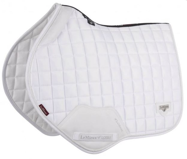 LeMieux Loire Close Contact Square Saddlepad - White