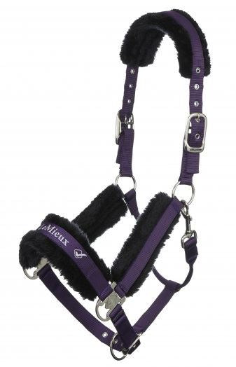 LeMieux Loire Luxury Padded Headcollar & Leadrope - Blackcurrant