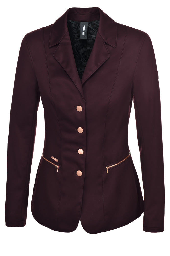 Pikeur Paulin Ladies Softshell Rose Gold Show Jacket - Bordeaux