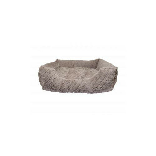 40 Winks Square Bed Grey & Pink - Accessories - Dog & Cat Bedding - Soft