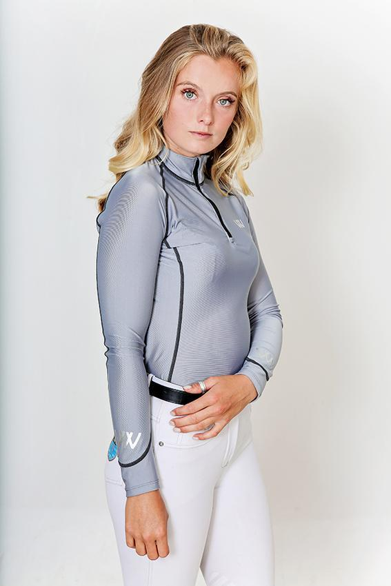 Woof Wear Performance Riding Shirt Brushed Steel