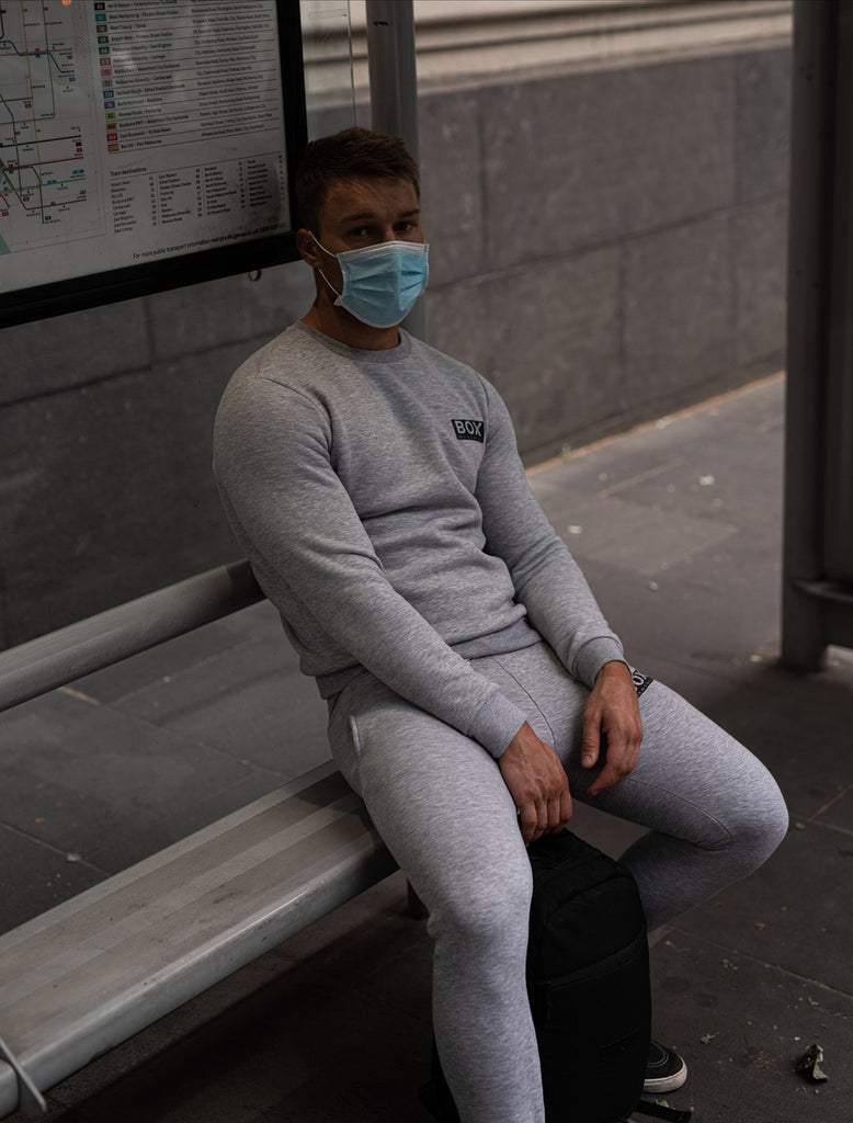 Fleece Jogging Bottoms - Melange Grey