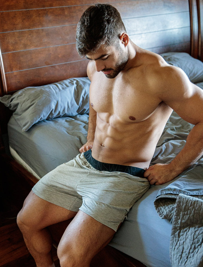 Dan Tai In Bed Grey Box Bed Shorts Black Waistband