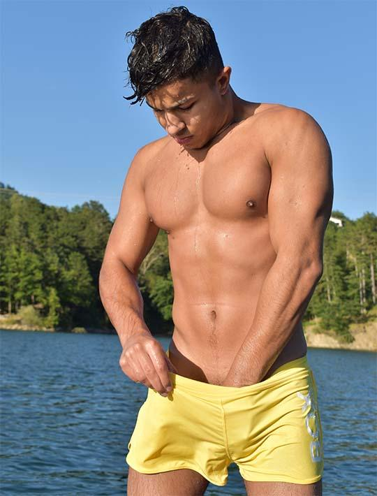 Swimming Shorts - Soft Yellow