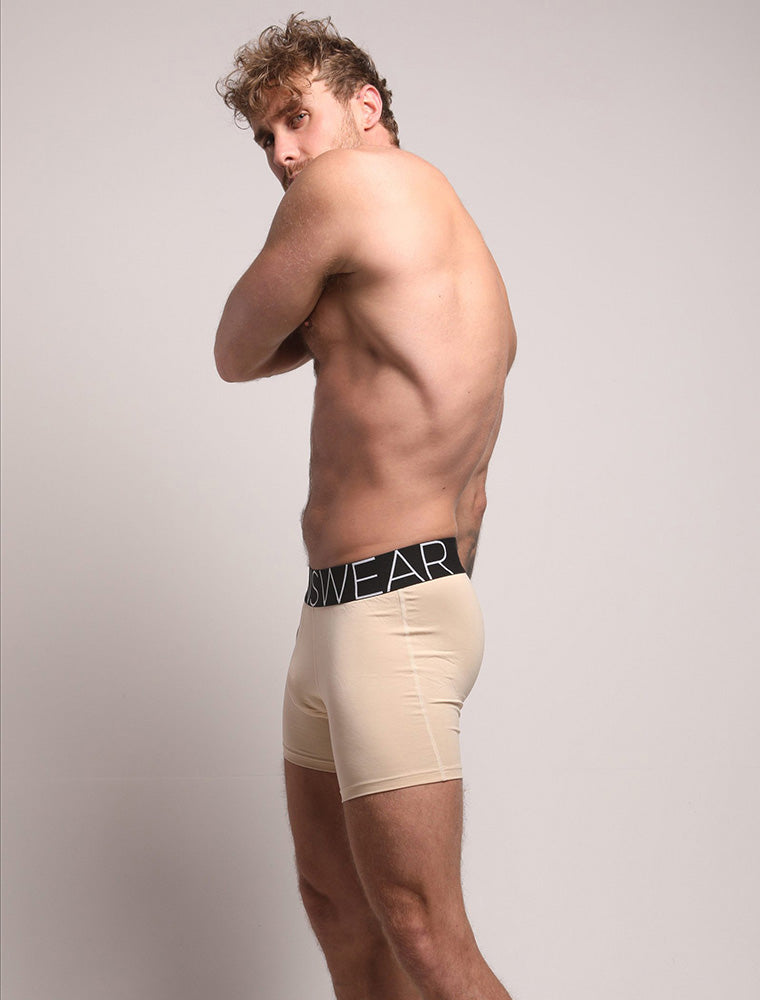 Ross Norton Side View Nude Beige Black Waistband Bulge King Fit Evo
