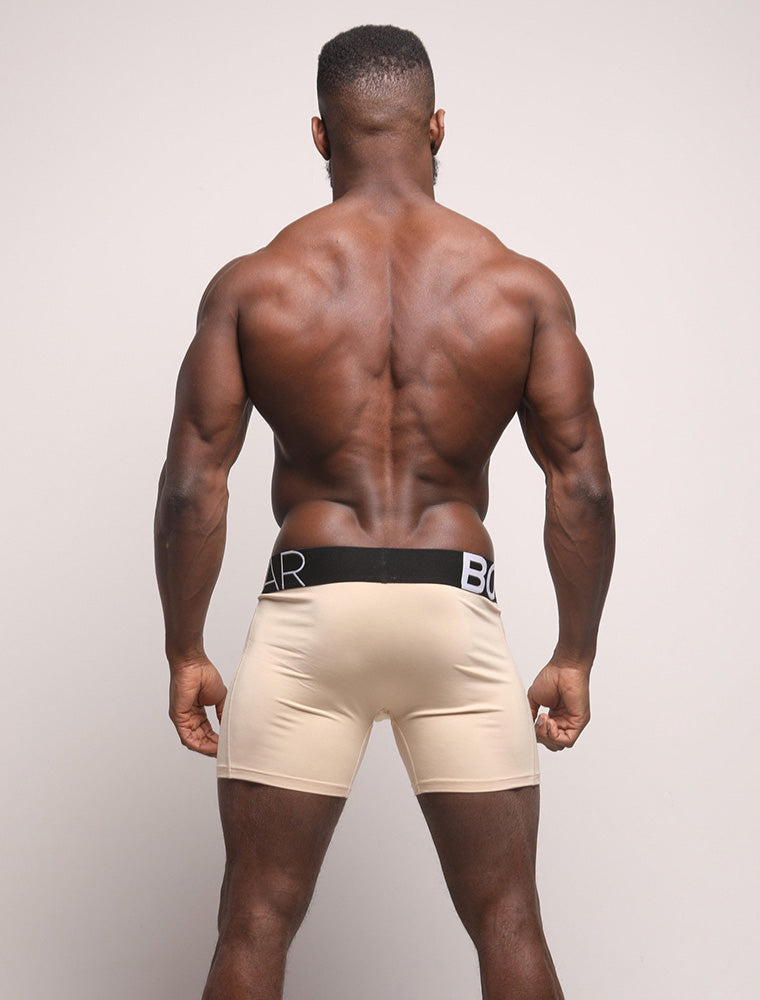 Daniel Shoneye Rear View Nude Beige Black Waistband Bulge King Fit Evo