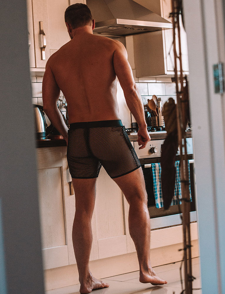 Totally See Through Mesh Shorts - Blackout