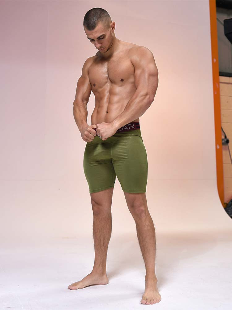 Compression Shorts - Military Green