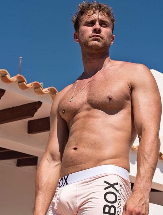Ross Norton pink boxers bulge